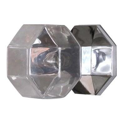 Motoko Ishii for Staff Leuchten Modulare Chrome and Glass Light For Sale