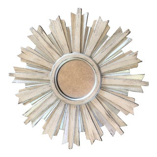 Traditional Ethan Allen Mini Silver Starburst Mirror