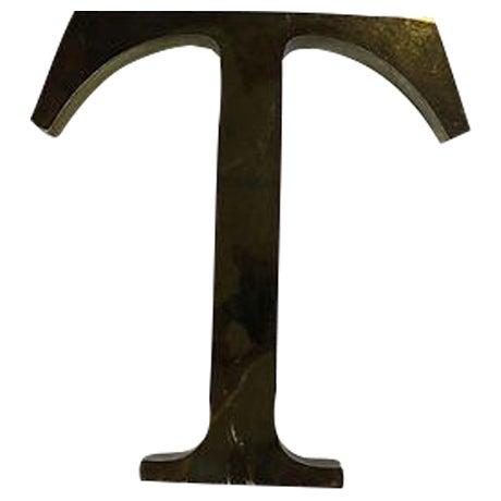 "Vintage Metal English Pub Sign Letter ""T"" - Image 1 of 3"