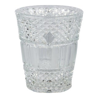 Vintage French Cut Crystal Champagne Bucket For Sale