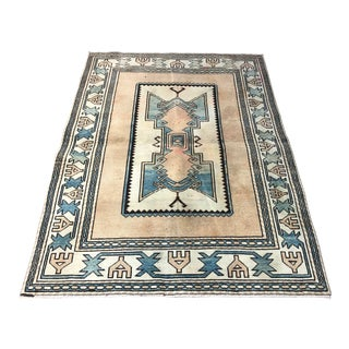 1960s Vintage Traditional Turkish Wool Rug For Sale