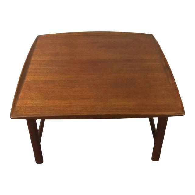 1980s Scandinavian Modern Dux Sweden Teakwood Coffee Table For Sale