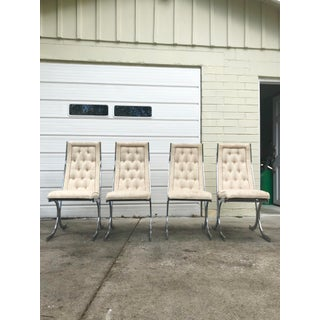 Milo Baughman Chrome Dining Chairs, Set of Four Preview