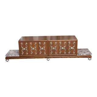 1950s Mid-Century Modern James Mont Style Long Credenza For Sale