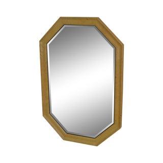 Henredon Scene Two Burl Wood Octagonal Mirror For Sale