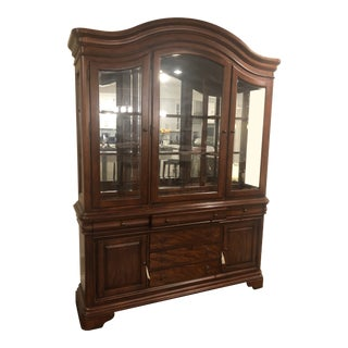 Vintage Empire Wood China Cabinet For Sale