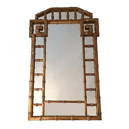 Greek Key Gold Frame Mirror 1960's - Image 1 of 7