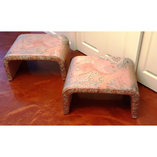 Hollywood Regency Waterfall Benches- a Pair For Sale - Image 3 of 13