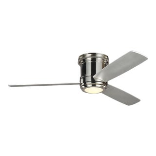 """Monte Carlo 56"""" Aerotour Semi in Flush in Polished Nickel with Grey Blades For Sale"""