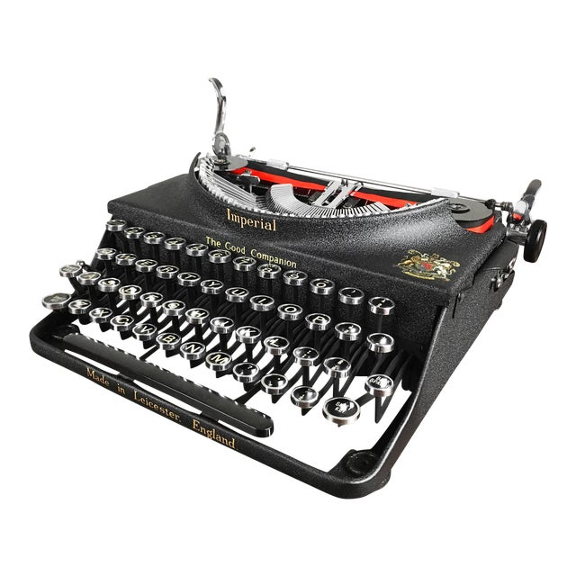 Vintage 1930s Art Deco Styled Imperial 'Good Companion' Portable Typewriter, Fully Refurbished, Impeccable - Image 1 of 9