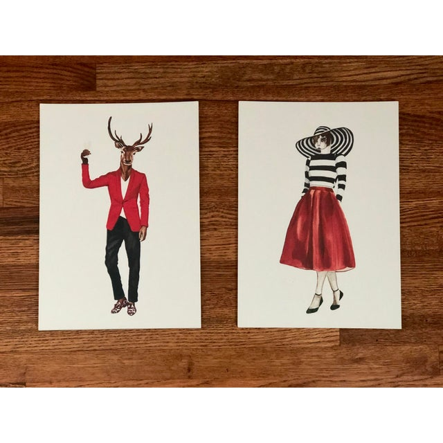 Tres Chic Signed Animal Portraits For Sale - Image 9 of 9