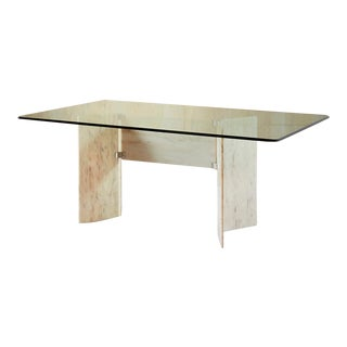 White Onyx Dining Table or Desk For Sale