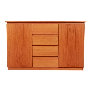 20th Century Danish Modern Teak Buffet / Sideboard For Sale