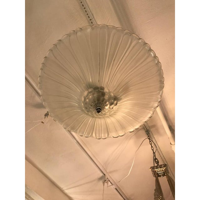 Early 20th Century French Art Deco Chandelier by G Leleu For Sale - Image 5 of 12