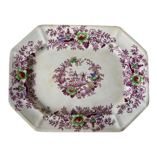 "J.Wedgwood 16""Ironstone Platter-1850-""Tyrol"" For Sale"