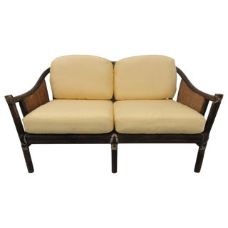 1980s Vintage McGuire Settee For Sale