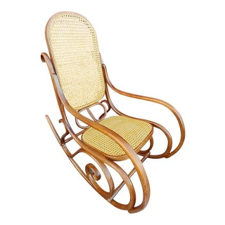 Mid 20th Century Vintage Bentwood Thonet Rocking Chair For Sale