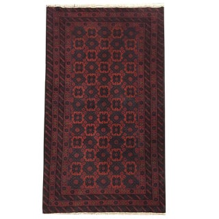 Vintage Traditional Tribal Hand Knotted Rug- 3′1″ × 5′4″ For Sale