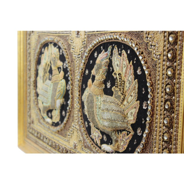 Pasargad DC Hand Made India Beaded Turkey Raised Wall Art For Sale - Image 4 of 10