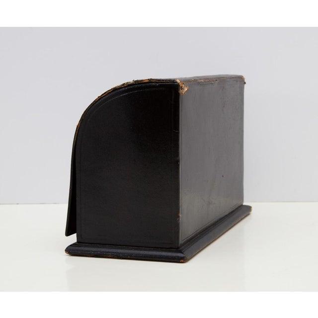 Animal Skin Antique Leather Desk Stationery Letter Organizer For Sale - Image 7 of 8