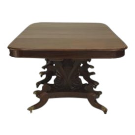 American Empire style (late 19th Cent) mahogany dining table For Sale