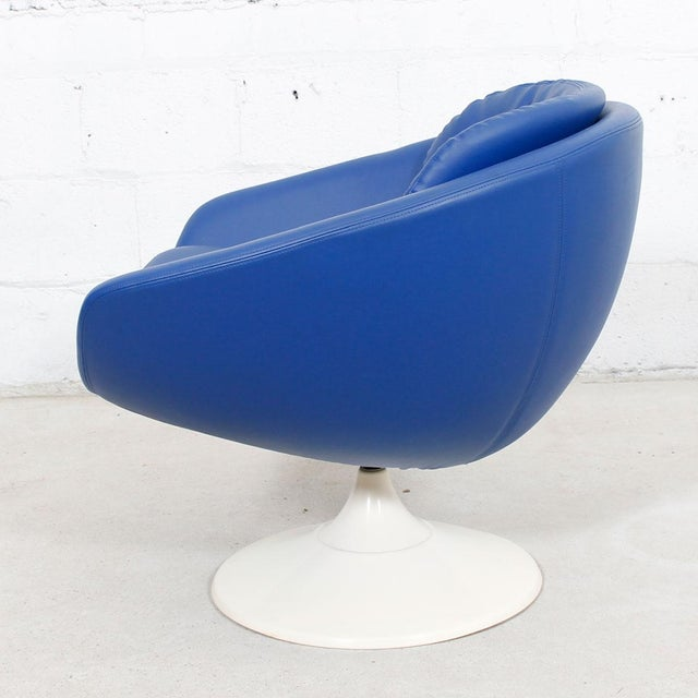 Blue 60s Swivel Pod Chair by Overman of Sweden - Image 3 of 10