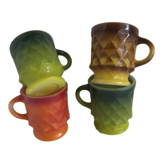 Mid-Century Fire King Mugs - Set of 4 For Sale