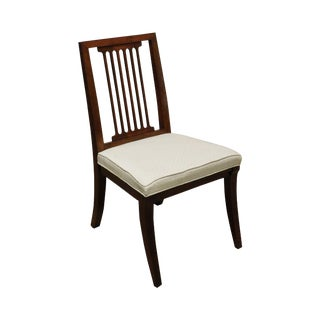 Quality Cherry Slat Back Side Chair For Sale