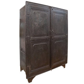 1940s French Lille Steel Cabinet For Sale