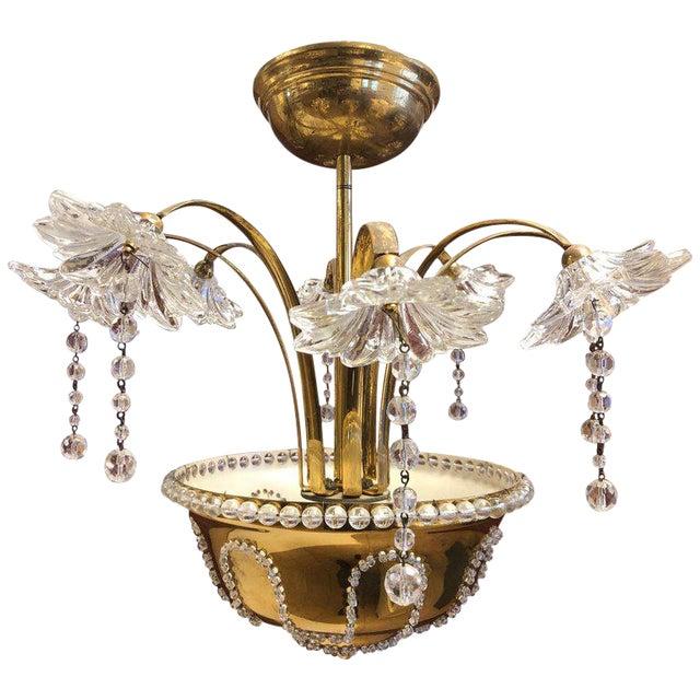 Italian Murano Glass Chandelier For Sale