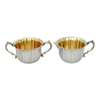 Vintage Sheridan Silverplate Cream and Sugar Set - A Pair
