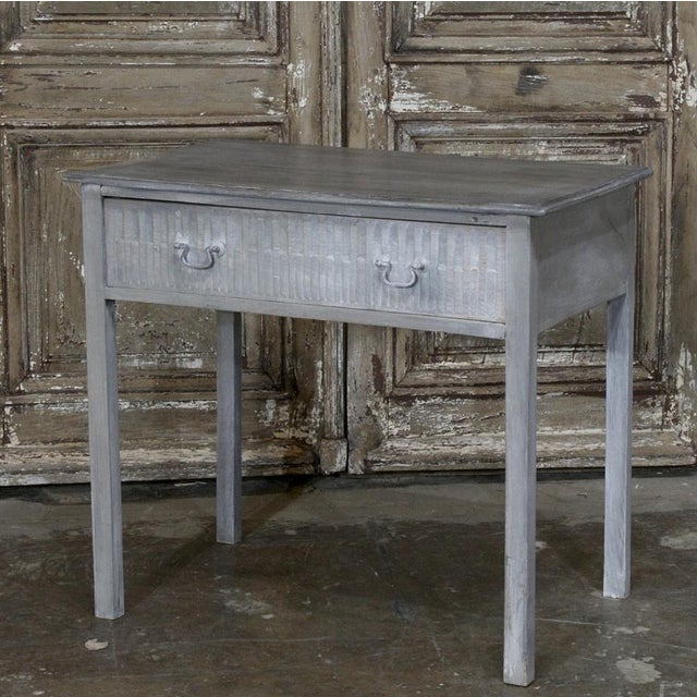 Perfect for today's casual decor, this 19th Century Swedish End Table features a two-toned Painted Finish and a Full Width...
