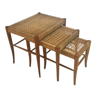 Robsjohn-Gibbings Style Flared Leg Nesting Tables - Set of 3