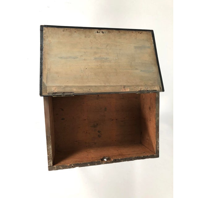 19th Century Painted Wood Book Box on Stand For Sale - Image 10 of 13
