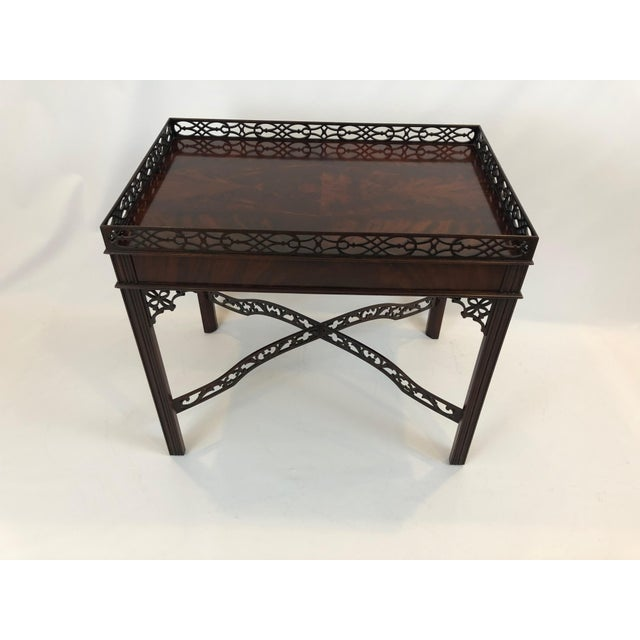 Chippendale Flame Mahogany Side Table For Sale - Image 13 of 13