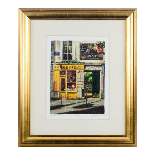 "1990's Vintage ""Louvre"" Edition 196/550 Seri-Lithograph by Louis Robichaud For Sale"