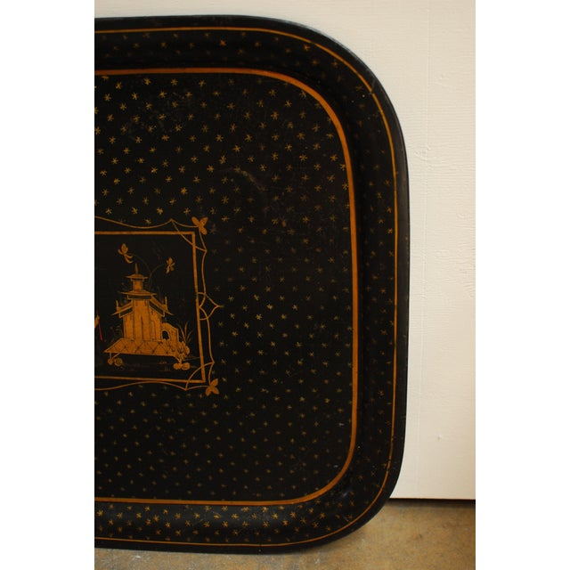 Chinoiserie Tole Serving Tray - Image 3 of 4