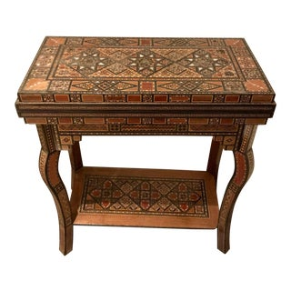 19th Century Moroccan Backgammon/Checkers Table For Sale