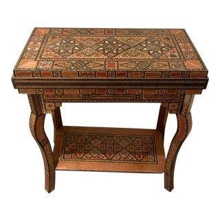 19th Century Moroccan Backgammon/Checkers Table For Sale