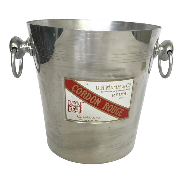 Vintage Mumm & Co. Cordon Rouge French Champagne Ice Bucket For Sale