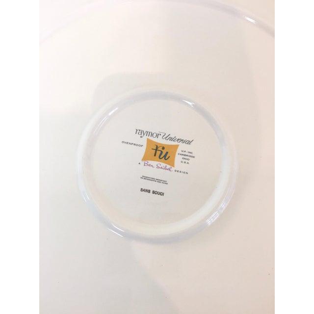 Vintage 1950s Raymor Universal Sans Souci Pattern Serving Platters & Bowls Set, 7 Pieces For Sale - Image 9 of 10