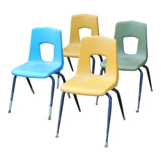 Vintage Artco Bell School Chairs - Set of 4