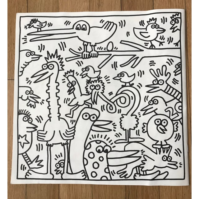 1985 Vintage Keith Haring Coloring Book For Sale In New York - Image 6 of 9