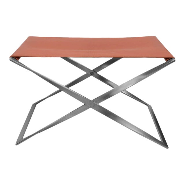 "Poul Kjaerholm ""Pk91"" Folding Stool - Image 1 of 10"