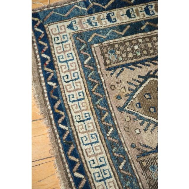 "Blue Vintage Caucasian Square Rug - 3'6"" x 4' For Sale - Image 8 of 10"