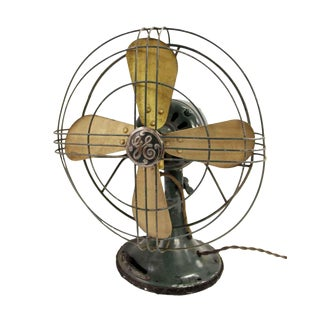 Green General Electric Tabletop Fan For Sale