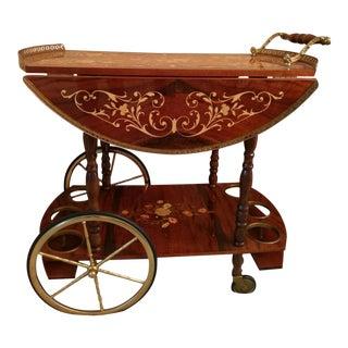 Italian Wooden Tea Cart For Sale
