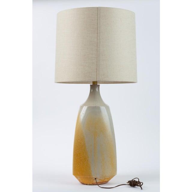 Architectural Pottery Drip-Glaze Stoneware Lamp by David Cressey for Architectural Pottery For Sale - Image 4 of 9