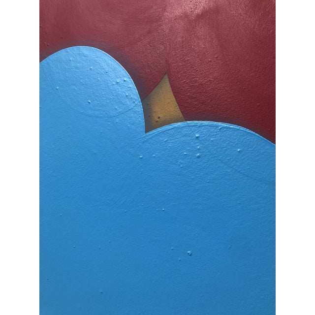Abstract Abstract Acrylic Painting on Panel For Sale - Image 3 of 6