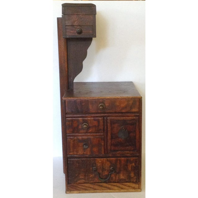 This old Japanese sewing box is often used today as a jewelry box. Lovely on top of a dresser, it has eight different...